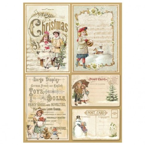 Rizspapir - A4 - Christmas Postcard - DFSA4201