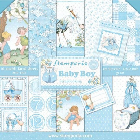 Scrapbooking Paper Pack - Baby Boy Collection