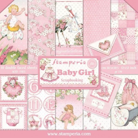 Scrapbooking Paper Pack - Baby Girl Collection