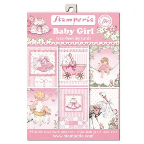 Scrapbook képeslap - Baby Girl Postcard Pad Collection