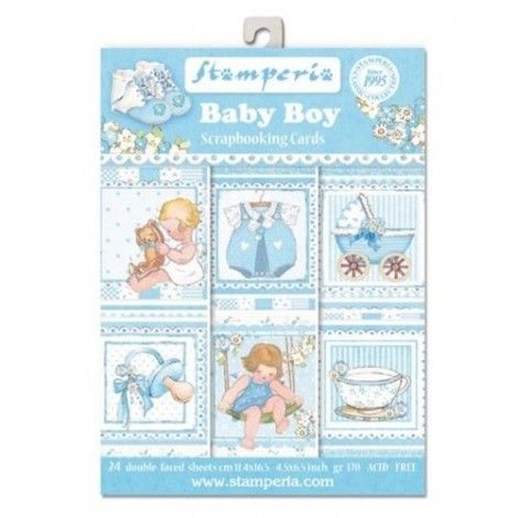 Scrapbook képeslap - Baby Boy Postcard Pad Collection