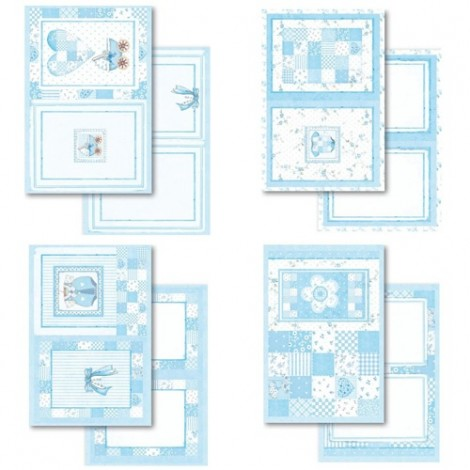 Scrapbooking Postcard Pad -  Baby Boy Paperpad Collection