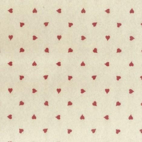Mintás filc - szívek 01