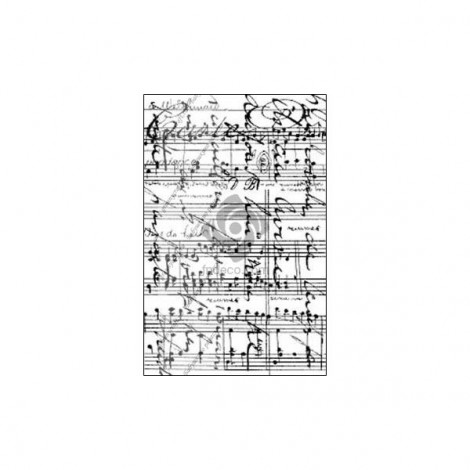 Rubber Stamp - Music sheet