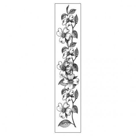 Rubber Stamp - Flowers bordure