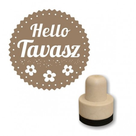 Foam stamp - Hello tavasz