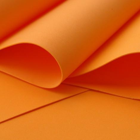 Foamiran, narancssárga, 30x35cm