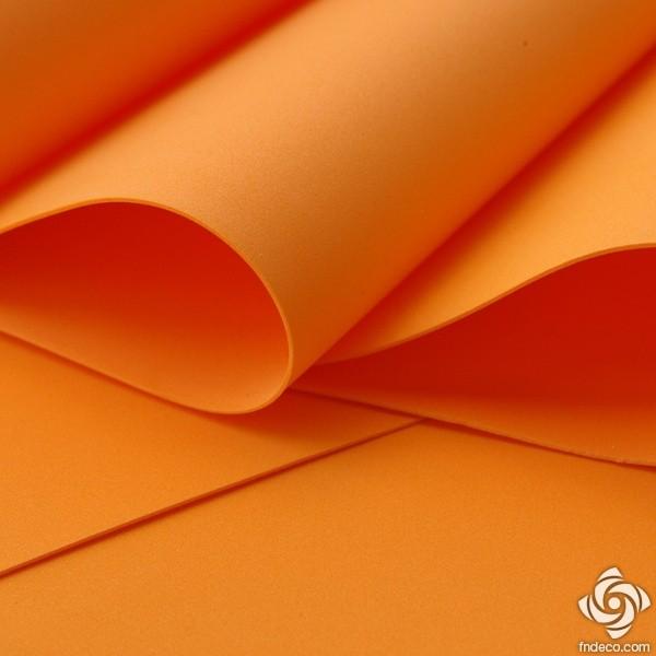 Foamiran 0,6 mm, orange, 30x35cm