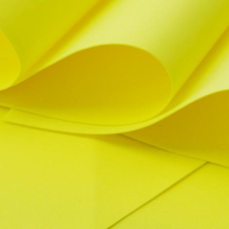 Foamiran, citromsárga, 30x35cm