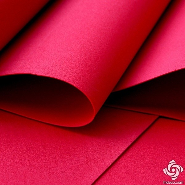 Foamiran, red, 30x35cm
