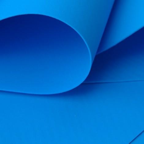 Foamiran, kék, 30x35cm