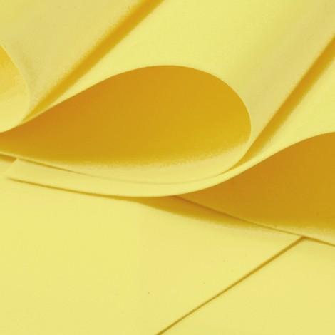 Foamiran, világos sárga, 30x35cm