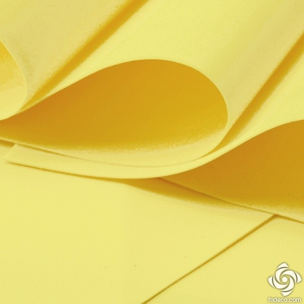 Foamiran, light yellow, 30x35cm