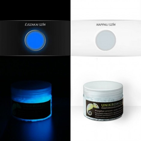 UnikromGlow Glow in the Dark Crushed Glass - skyblue (180g)