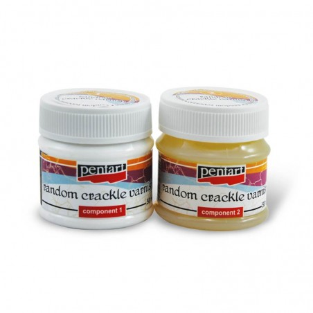 Pentart Random crackle varnish, 50 ml set