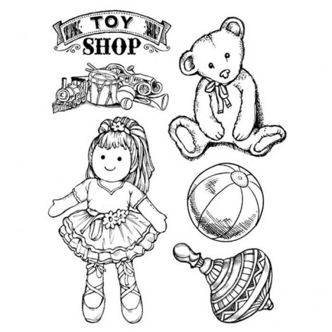 Rubber Stamp - Toy Shop