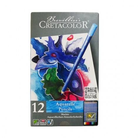 Cretacolor fémdobozos akvarellceruza készlet - 12 db