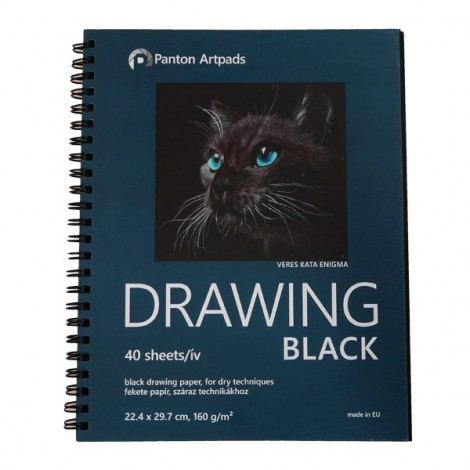 Drawing Black Sketchbook 02, 40 sheets