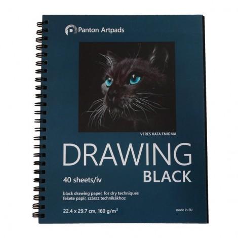 Drawing Black Sketchbook 02, 40 sheets
