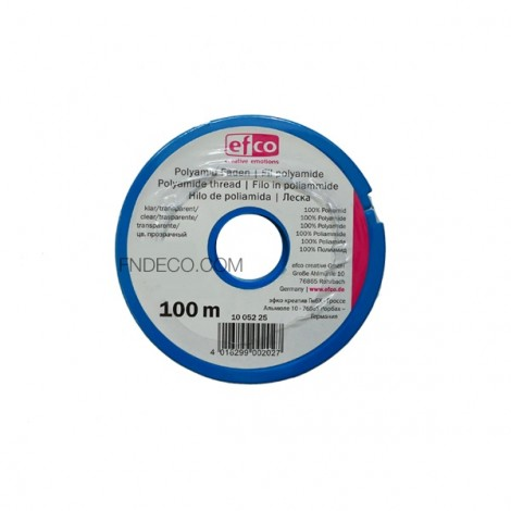 EFCO Transparent nylon beading thread, Ø 0.45 mm