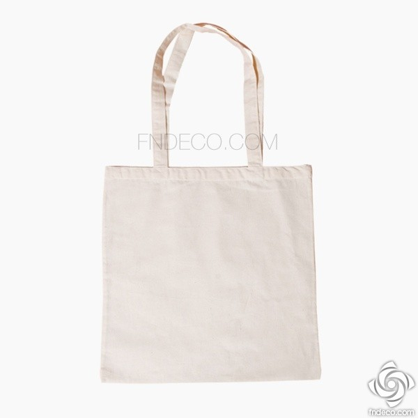 Canvas tote bag with long strap