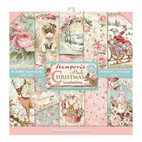 Scrapbook papír tömb - Pink Christmas