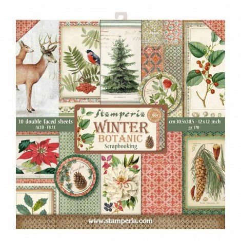 Scrapbooking Paper Pack - Winter Botanic