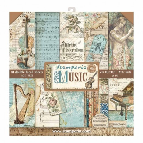 Scrapbooking Paper Pack - Music
