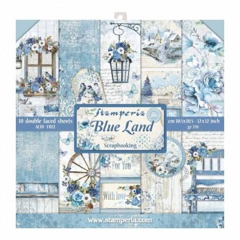 Scrapbook papír tömb - Blue Land