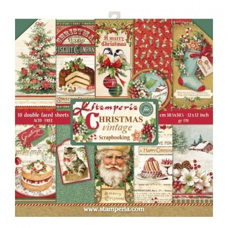 Scrapbook papír tömb - Christmas Vintage