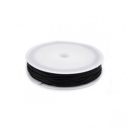 Round Elastic Bead Jewelry Cord, 0.8 mm