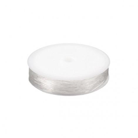 Kerek rugalmas damil, 0,8 mm - átlátszó