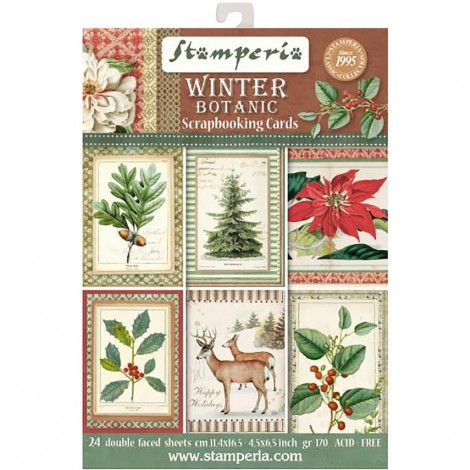 Scrapbook képeslap - Winter Botanic Postcard Pad Collection