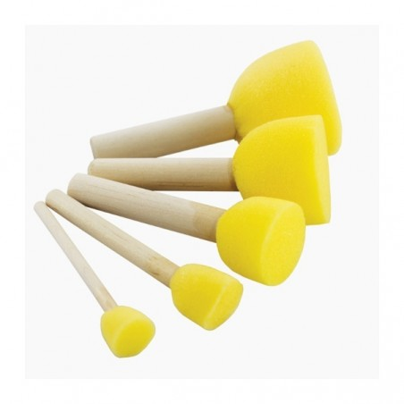 Sponge brush set of 5