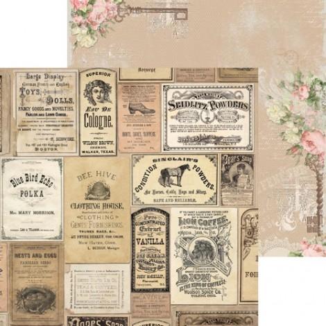 Double-sided Scrapbook Paper - Soirée Boutique