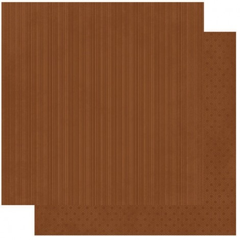 Double-sided Scrapbook Paper - Chocolate Stripe