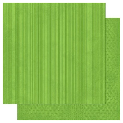 Double-sided Scrapbook Paper - Wasabi Stripe