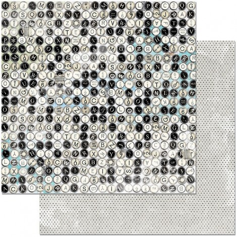 Double-sided Scrapbook Paper - Typewriter