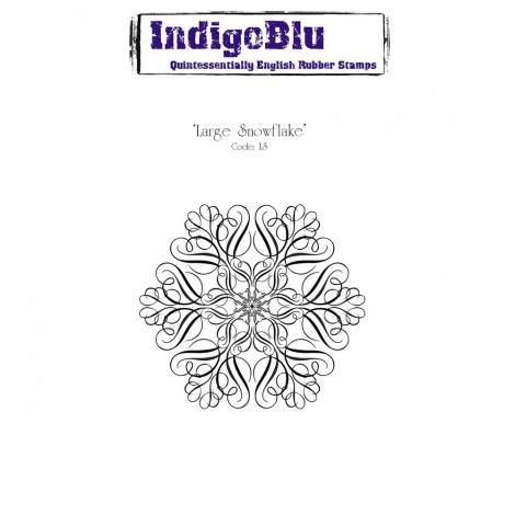 Rubber Stamp - Large Snowflake