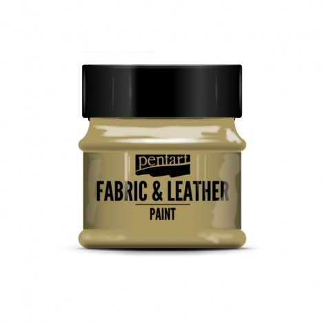 Pentart Fabric & Leather paint, glitter, 50 ml
