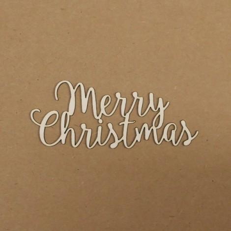 Chipboard felirat - Merry Christmas