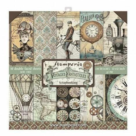 Scrapbook papír tömb - Voyages Fantastiques