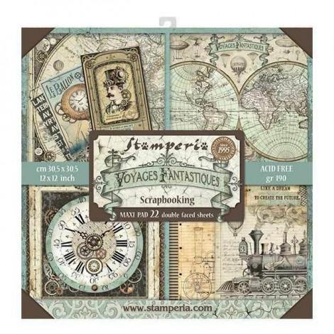 Scrapbook papír tömb - Voyages Fantastiques Maxi Pad