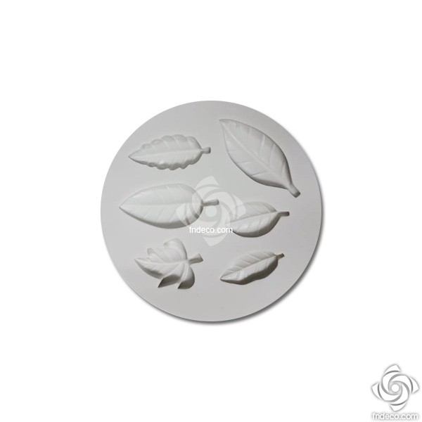 Silicone mold, leaves
