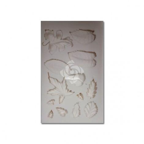 Szilikon forma, levelek 02