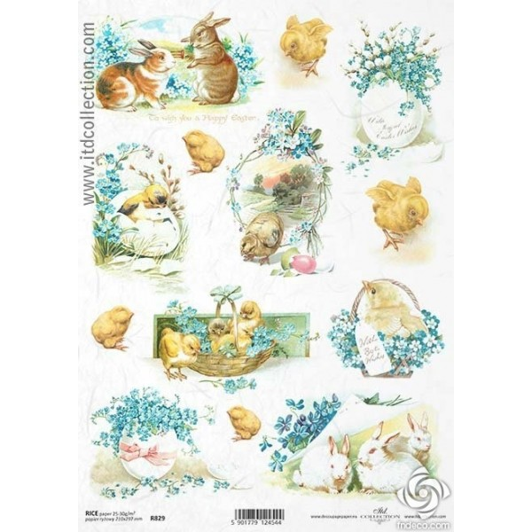 Rice Paper Napkins - A4 - R829