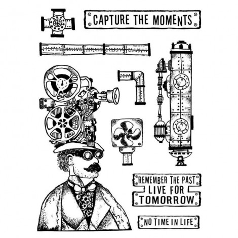 Mixed Media Rubber Stamp - Capture the Moment