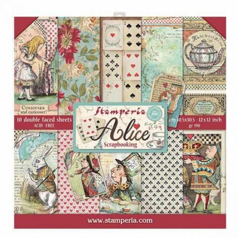 Scrapbook papír tömb - Alice