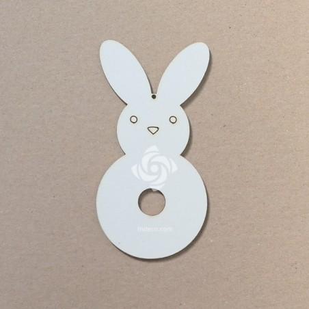 Chipboard - Pom pom bunny